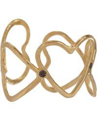 Suzannah Wainhouse Jewelry Metallic Eternal Heart Cutout Ring