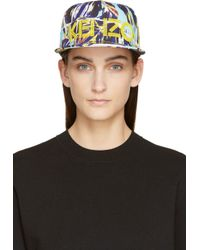KENZO Blue And Yellow Torn Flowers New Era Edition Cap