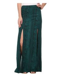 Billabong Green Never Look Back Maxi Skirt