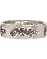 Cathy Waterman White Cutout Paisley Leaf Band