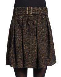 Burberry Brit Brown Tweed Skirt