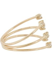 Jennie Kwon | Metallic Diamond & Gold Tri-band Cuff Ring | Lyst