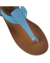 Lotus - Blue Corfu Toe Post Sandals - Lyst