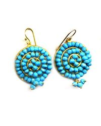 Wendy Mink | Blue Round Turquoise Faceted Earrings | Lyst
