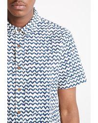 Forever 21 - Blue Zigzag Print Shirt for Men - Lyst