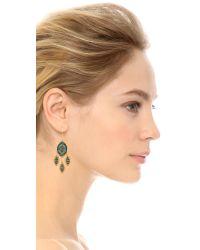 Miguel Ases Metallic Sophia Earrings - Blue Multi