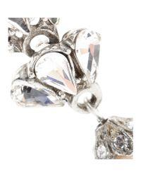 Ben-Amun Metallic Swarovski Crystalembellished Fauxpearl Earrings