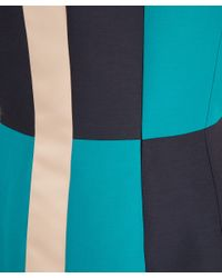 ROKSANDA Blue Navy Kilton Silk Dupion Sleeveless Dress