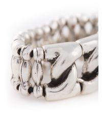 Philippe Audibert | Metallic 'chain S' Ring | Lyst
