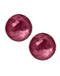 Ippolita | Pink Large Wonderland Faceted Button Stud Earrings | Lyst