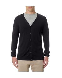 Sunspel - Black Men's Fine Merino Cardigan for Men - Lyst