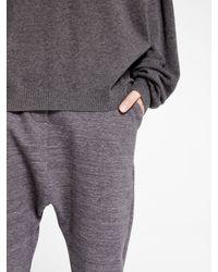 DKNY - Gray Pure Harem Pant - Lyst