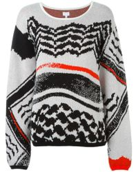 Lala Berlin | White Intarsia Knit Sweater | Lyst