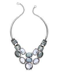 INC International Concepts - Multicolor Rhodium-tone Multi Stone Clear Bib Necklace - Lyst