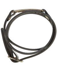 McQ   Metallic Silver Leather Wrap Razor Bracelet   Lyst