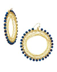 Nakamol | Metallic Beaded Spiral-Wire Earrings | Lyst