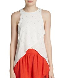 Knot Sisters - White Bat Your Lashes Tank Top - Lyst
