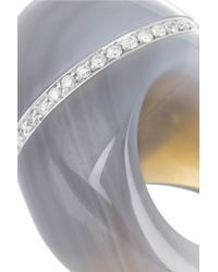 Finds - Gray + Catherine Prevost 18-Karat White Gold, Agate And Diamond Ring - Lyst
