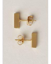 Ming Yu Wang Metallic Gold-plated Brass Bar Earrings