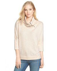 Caslon - Natural Drape Neck Pullover - Lyst