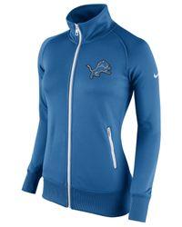 Nike Blue Women's Detroit Lions Stadium Track Jacket