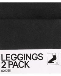H&M Black 2-pack Leggings, 60 Den