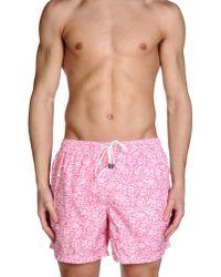 Fedeli - Pink Swimming Trunk for Men - Lyst