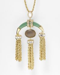 Rachel Zoe | Green Safari Multi Tassel Pendant Necklace 32 | Lyst