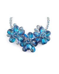 James Lakeland | Blue 3d Glass Floral Necklace | Lyst