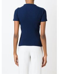 Jacquemus - Blue Ribbed Sweater - Lyst