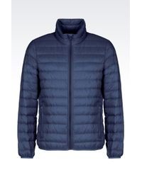 Armani Jeans | Blue Ultra Light Down Jacket With Special Packaging for Men | Lyst