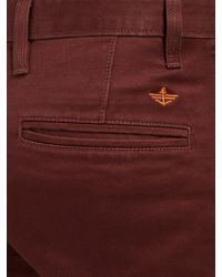 Dockers Brown Alpha Skinny Fit Trousers for men