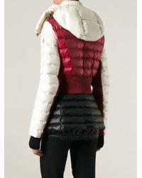 Moncler Grenoble Red Padded Colour Block Jacket