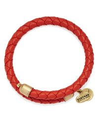 ALEX AND ANI | Red Vintage 66 Braided Leather Wrap Bracelet | Lyst