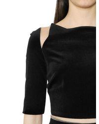 Maria Lucia Hohan - Black Cotton Blend Velvet Dress - Lyst