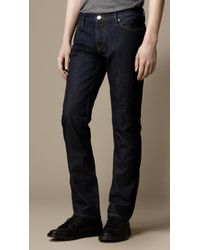 Burberry | Blue Steadman Indigo Rinse Slim Fit Jeans for Men | Lyst
