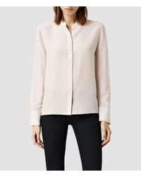 AllSaints - Natural Ando Shirt - Lyst
