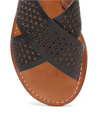 Lucky Brand | Black Dadeen Leather Sandals | Lyst