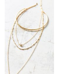 Urban Outfitters - Metallic Bieke Rhinestone Layering Necklace - Lyst