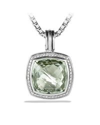 David Yurman | Green Albion Pendant With Diamonds, 17mm Gemstone | Lyst