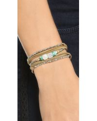 Pascale Monvoisin | Metallic Clemence Wrap Bracelet - Pyrite/Gold/Silver/Brown | Lyst