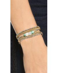 Pascale Monvoisin | Metallic Clemence Wrap Bracelet - Pyrite/Gold/Silver/Brown | Lyst