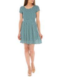 Tenki - Green Polka Dot Dress - Lyst