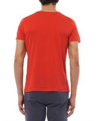 American Vintage Red Denver V-Neck T-Shirt for men