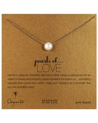 Dogeared   Metallic 14ct Gold Plated Freshwater Pearl Pendant Neckalce   Lyst