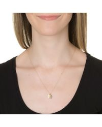 Ginette NY   Metallic Tag Alphabet Necklace   Lyst