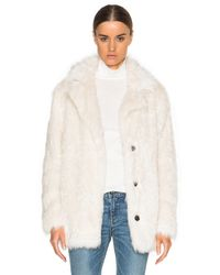 Vanessa Bruno Athé - White Darling Faux Fur Jacket - Lyst