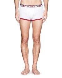 Emporio Armani - White Contrast Piping Stretch Cotton-blend Boxers for Men - Lyst