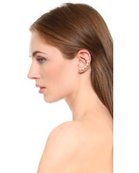 Auden - White Lana Ear Crawler Earrings  Pearlgold - Lyst