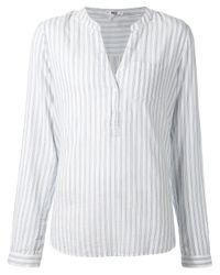 PAIGE White Vertical Stripes Tunic